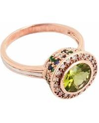Ri Noor - Peridot Sapphire Emerald & Diamond Ring - Lyst