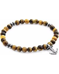 Anchor & Crew | Brown Tigers Eye Starboard Silver & Stone Bracelet | Lyst