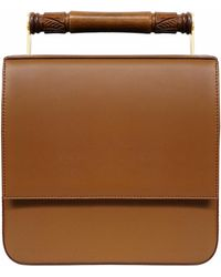 AEVHA - Helve Crossbody In Tan With Wooden Handle - Lyst
