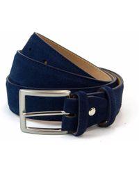 40 Colori - Navy Trento Leather Belt - Lyst