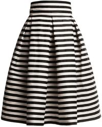 Rumour London - Amalfi Striped Midi Skirt - Lyst