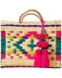 Soi 55 Lifestyle - Portuguese Basket Bag Maria With Pom-pom - Lyst