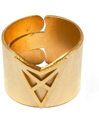 Dutch Basics - Hef Adjustable Broad Ring Gold - Lyst