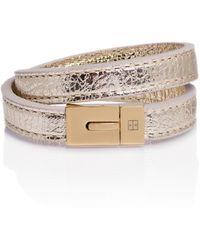 TANCHEL - Samaya Double Bracelet In Ice Gold - Lyst