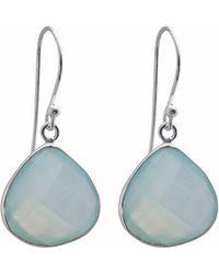 Juvi Designs - Egadi Drop Earrings With Aqua Chalcedony - Lyst