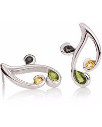 Manja - Tana Citrine Smoky Quartz & Peridot Earrings - Lyst