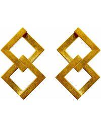 Helen Rankin - Geom Balance Earrings Gold Vermeil - Lyst