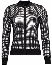 NY CHARISMA - Black & White Two-tone Waffle Pattern Jacket - Lyst