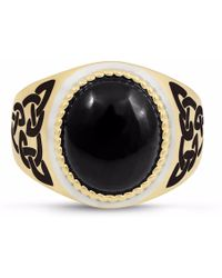 LMJ - Black Onyx Stone Ring - Lyst