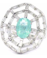 Ri Noor - Paraiba & Baguette Diamond Ring - Lyst