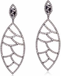 Meghna Jewels - Bora Bora Earrings White Diamonds - Lyst