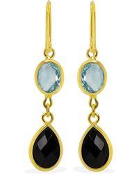 Vintouch Italy - Amalfi Multicolour Gold Drop Earrings - Lyst