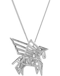 Origami Jewellery - Sterling Silver Frame Pegaze Origami Necklace - Lyst