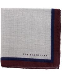 The Black Ears - The Brown Classic Style Wool Pocket Square - Lyst