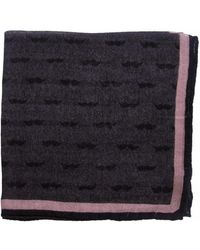The Black Ears - The Dark Moustache-pink Wool Pocket Square - Lyst