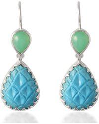 Emma Chapman Jewels - Aztec Chrysoprase Turquoise Earrings - Lyst