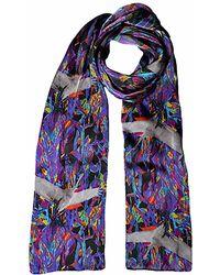 Jennifer Rothwell - Purple Crane Print Silk Scarf - Lyst