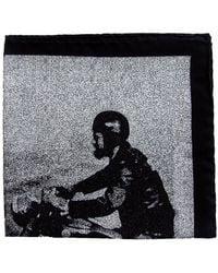 THE BLACK EARS | The Gentleman Rider Silk Pocket Square | Lyst