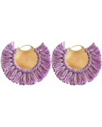 Ricardo Rodriguez Design - Pavone Earrings Purple - Lyst