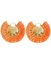 Ricardo Rodriguez Design - Pavone Earrings Orange - Lyst