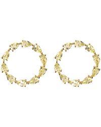 Emily Mortimer Jewellery - Aqua Lemon Quartz Circle Earrings - Lyst