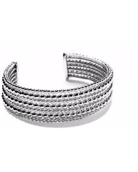 Agnes De Verneuil - Silver Seven-bands Cuff Bracelet Mixed Pearls - Lyst