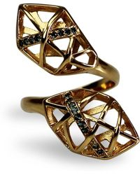 Bellus Domina - Topaz Helix Shaped Ring - Lyst