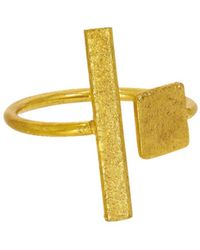 Ottoman Hands - Square & Rectangle Adjustable Ring - Lyst