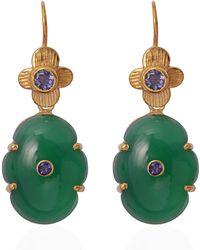 Emma Chapman Jewels - Larissa Green Onyx Iolte Earrings - Lyst