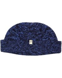 40 Colori - Navy Melange Wool & Cashmere Fisherman Beanie - Lyst