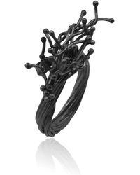 Karolina Bik Jewellery - Unique Kulfik Ring Black - Lyst