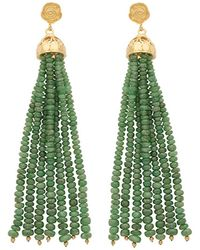 Carousel Jewels - Gold & Emerald Waterfall Earrings - Lyst