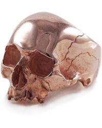 Frederick Grove - Rose Gold Skull Ring - Lyst