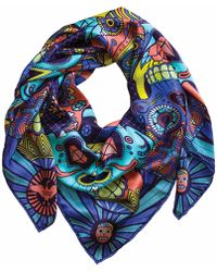 Furious Goose - We're All Going To Die Miami Large Silk Scarf - Lyst