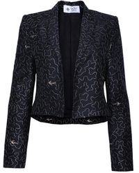 The Bee's Sneeze - Cropped Tuxedo Blazer - Lyst
