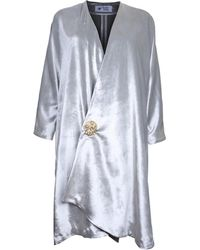 The Bee's Sneeze - Velvet Silver Drape Jacket - Lyst
