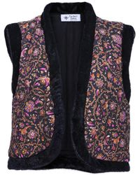 The Bee's Sneeze - Quilted Faux-fur Vest Baroque Flower Print - Lyst