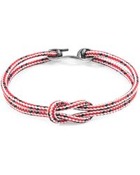 Anchor & Crew - Brown Brighton Silver & Rope Bracelet - Lyst