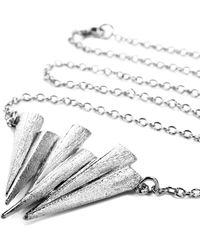 Ona Chan Jewelry - Six Daggar Necklace Silver - Lyst