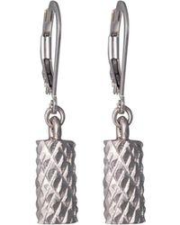 Edge Only - Diamond Cut Cylinder Drop Earrings In Silver - Lyst