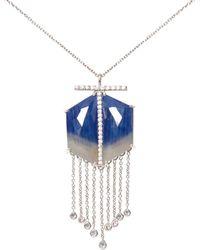 Ri Noor - Sapphire Hexagon Pendant - Lyst