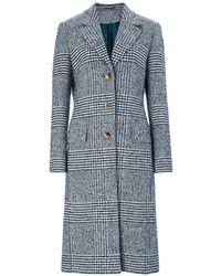 Baukjen - Myla Check Coat In Navy & Soft White Check - Lyst