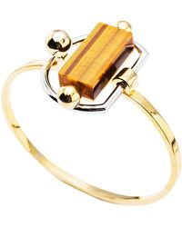 Paradeisos Jewellery - The Arch Natural Tigers Eye Bangle - Lyst