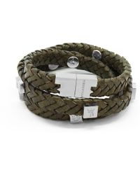 Tissuville - Brio Bracelet Olive Silver - Lyst