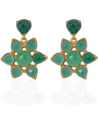 Emma Chapman Jewels - Elara Chrysoprase Green Onyx Earrings - Lyst