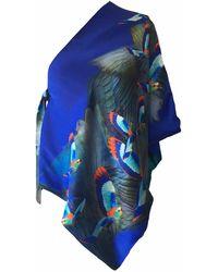 Jennifer Rothwell - Hummingbird Print Silk Wrap - Lyst