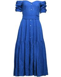 MATSOUR'I - Dress Alina Blue - Lyst