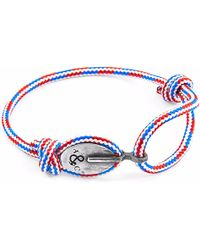 Anchor & Crew | Project-rwb Red White & Blue London Silver And Rope Bracelet | Lyst
