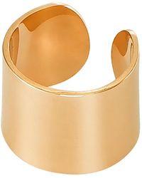 Dutch Basics - Ear Cuff Thick Gold Plated Silver - Lyst
