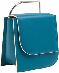 Lautem - Pascal Leather Bag Ocean - Lyst